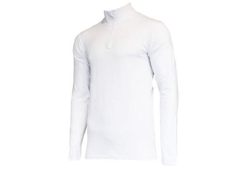 Campri Campri Skipully met 1/4 rits - shirt met col - Wit