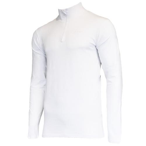 Campri Campri Heren - Skipully 1/4 rits - shirt met col - Wit