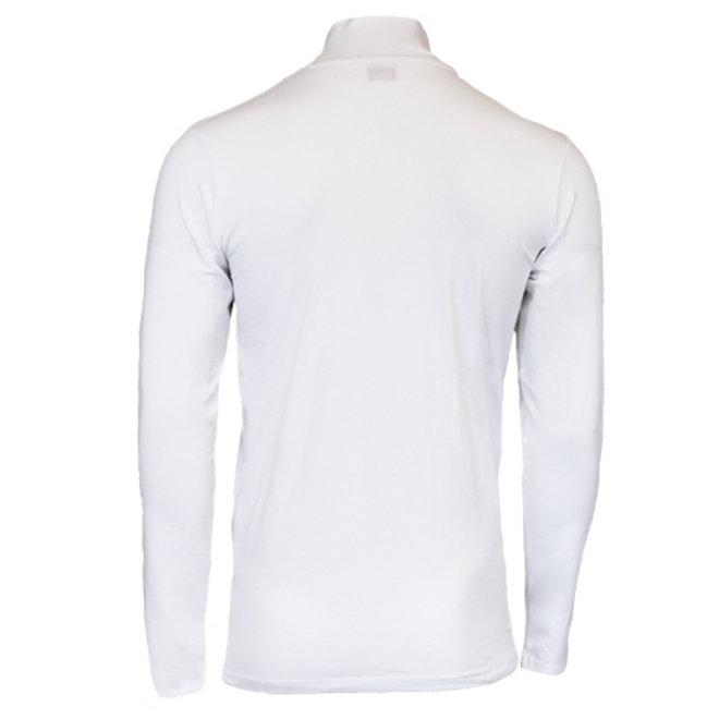 Campri Heren - Skipully 1/4 rits - shirt met col - Wit