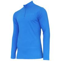 Campri Heren Skipully 1/4 rits - shirt met col - Cobaltblauw