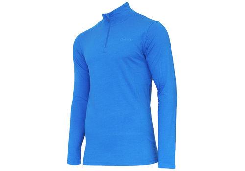 Campri Campri Skipully met 1/4 rits - shirt met col - Cobaltblauw