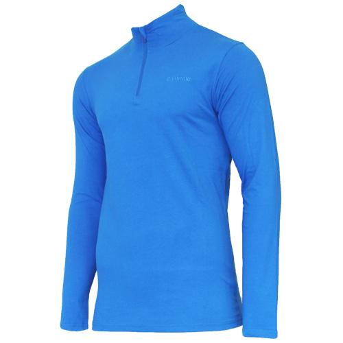 Campri Campri Heren - Skipully 1/4 rits - shirt met col - Cobaltblauw