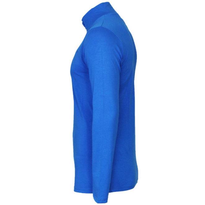 Campri Heren - Skipully 1/4 rits - shirt met col - Cobaltblauw