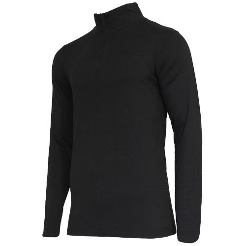 Campri Campri Heren - Skipully 1/4 rits - shirt met col - Zwart