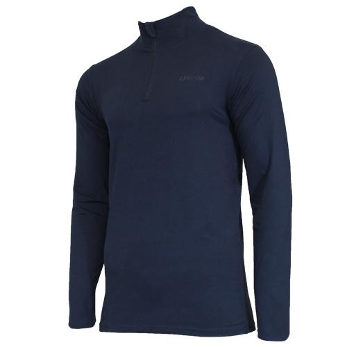Campri Campri Heren - Skipully 1/4 rits - shirt met col - Donkerblauw