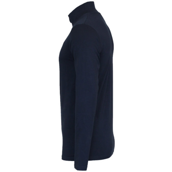 Campri Heren - Skipully 1/4 rits - shirt met col - Donkerblauw