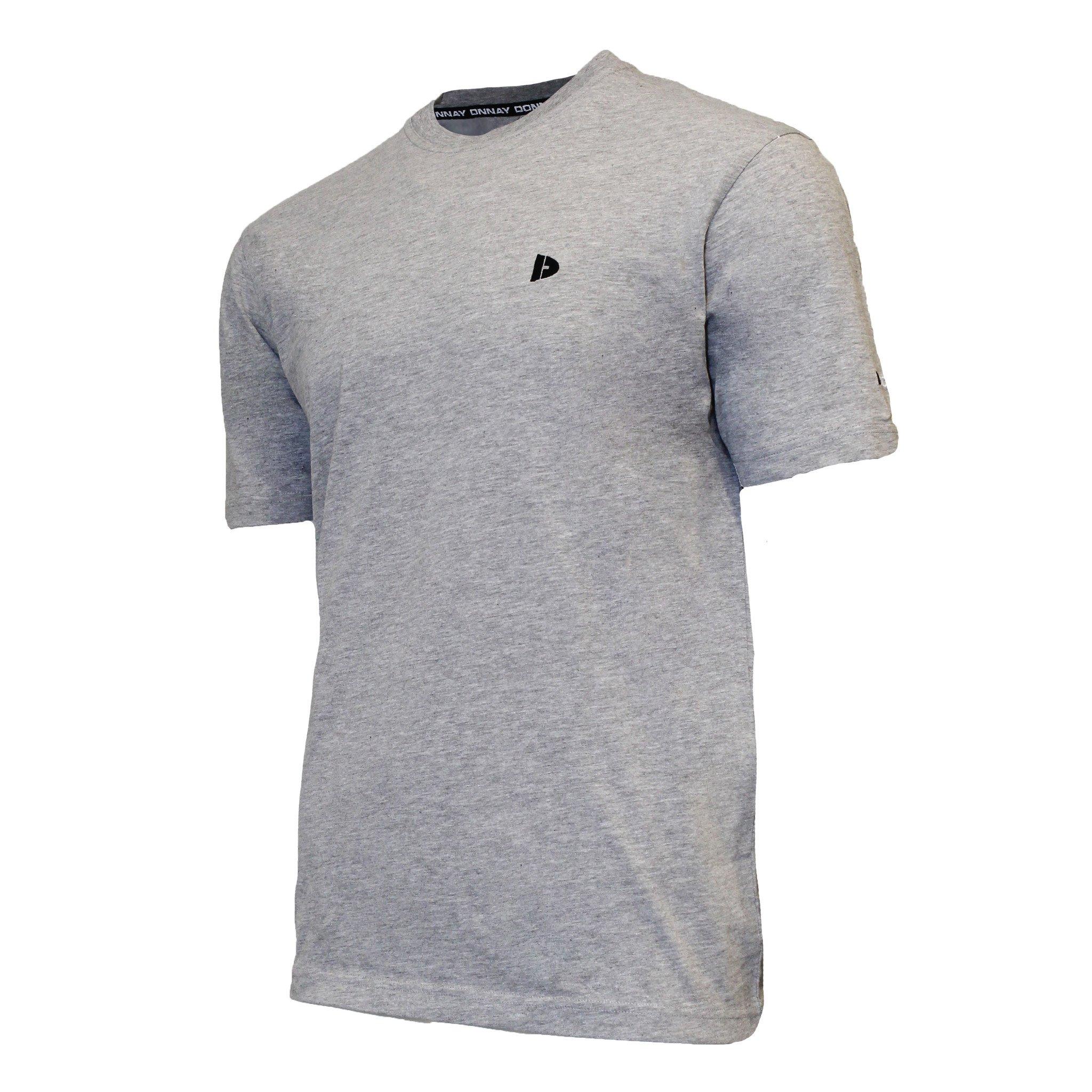 Donnay Donnay Heren - T-Shirt Vince - Lichtgrijs gemêleerd