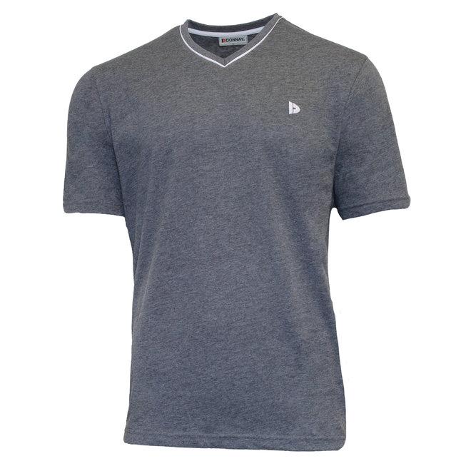 Donnay Heren - T-Shirt Jason - Donkergrijs gemêleerd