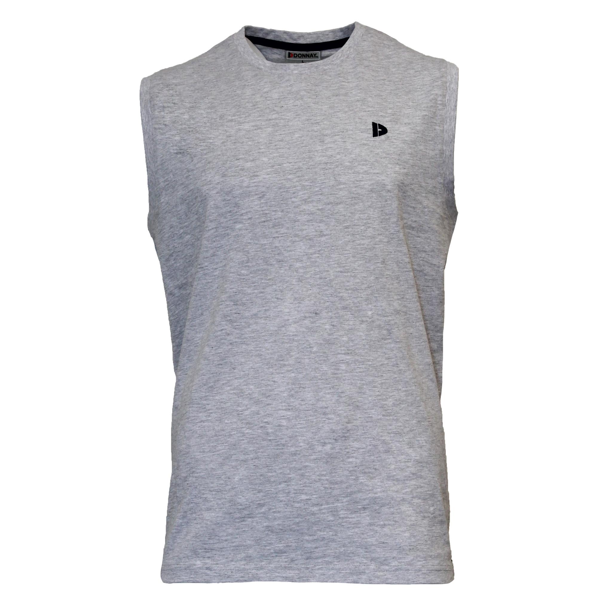 Donnay Donnay Heren - Mouwloos T-shirt Stan - Lichtgrijs gemêleerd