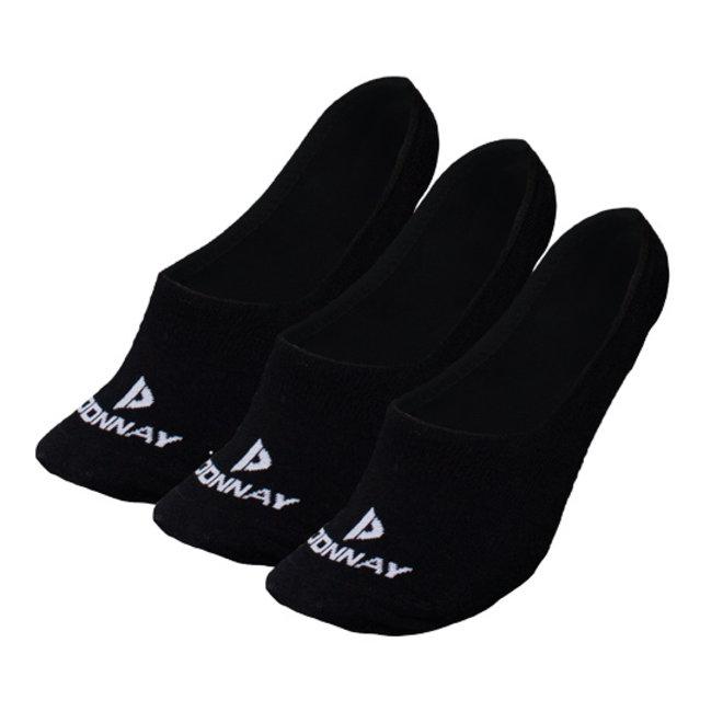 Donnay Unisex Footies Enkelsokjes - Zwart - 3 paar