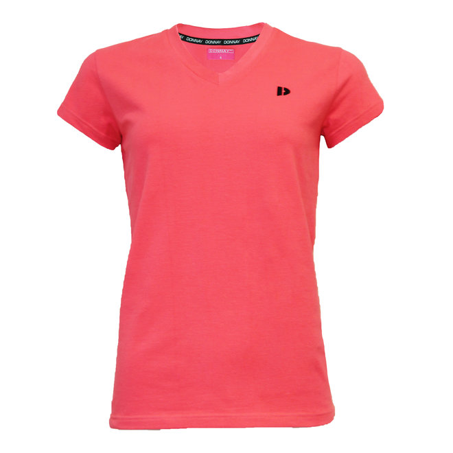 Donnay Dames - T-shirt Lois - Koraal Rood/roze