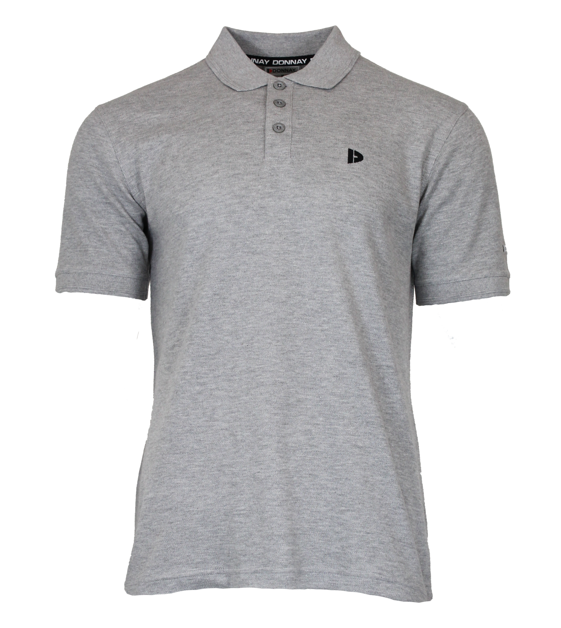 Donnay Donnay Heren - Polo shirt Noah - Lichtgrijs gemêleerd