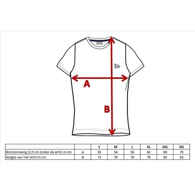 Donnay Heren - T-Shirt Vince - Lichtgrijs gemêleerd