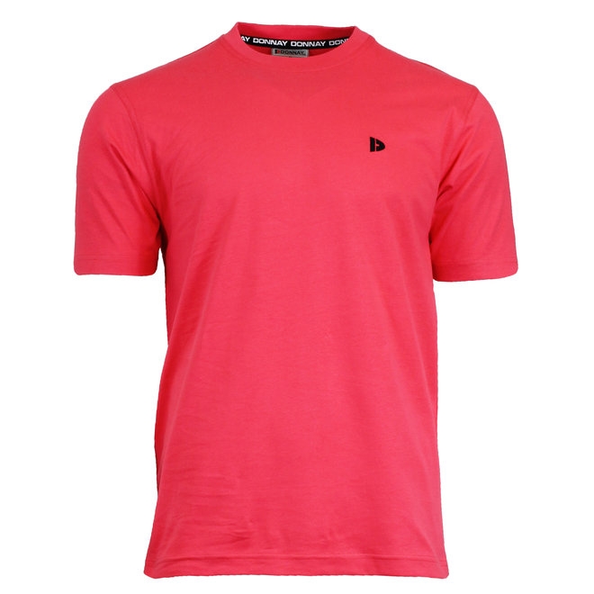 Donnay Heren - T-Shirt Vince - Koraal Rood/roze
