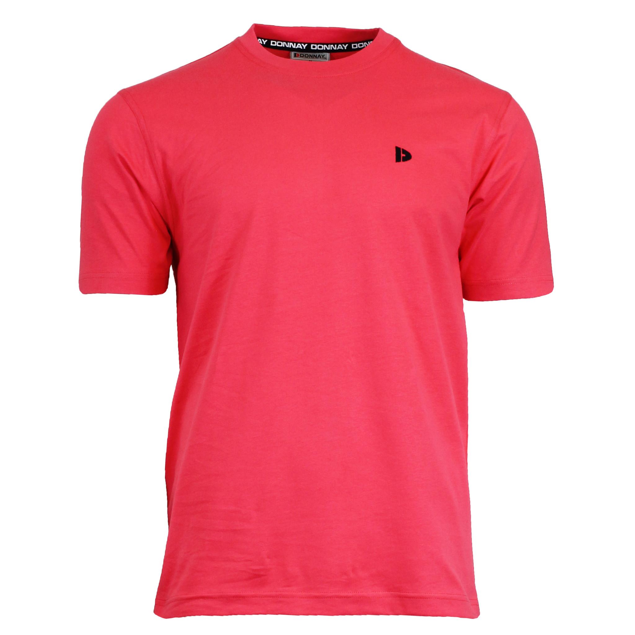 Donnay Donnay Heren - T-Shirt Vince - Koraal Rood/roze