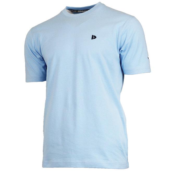 Donnay Heren - T-Shirt Vince - Lichtblauw