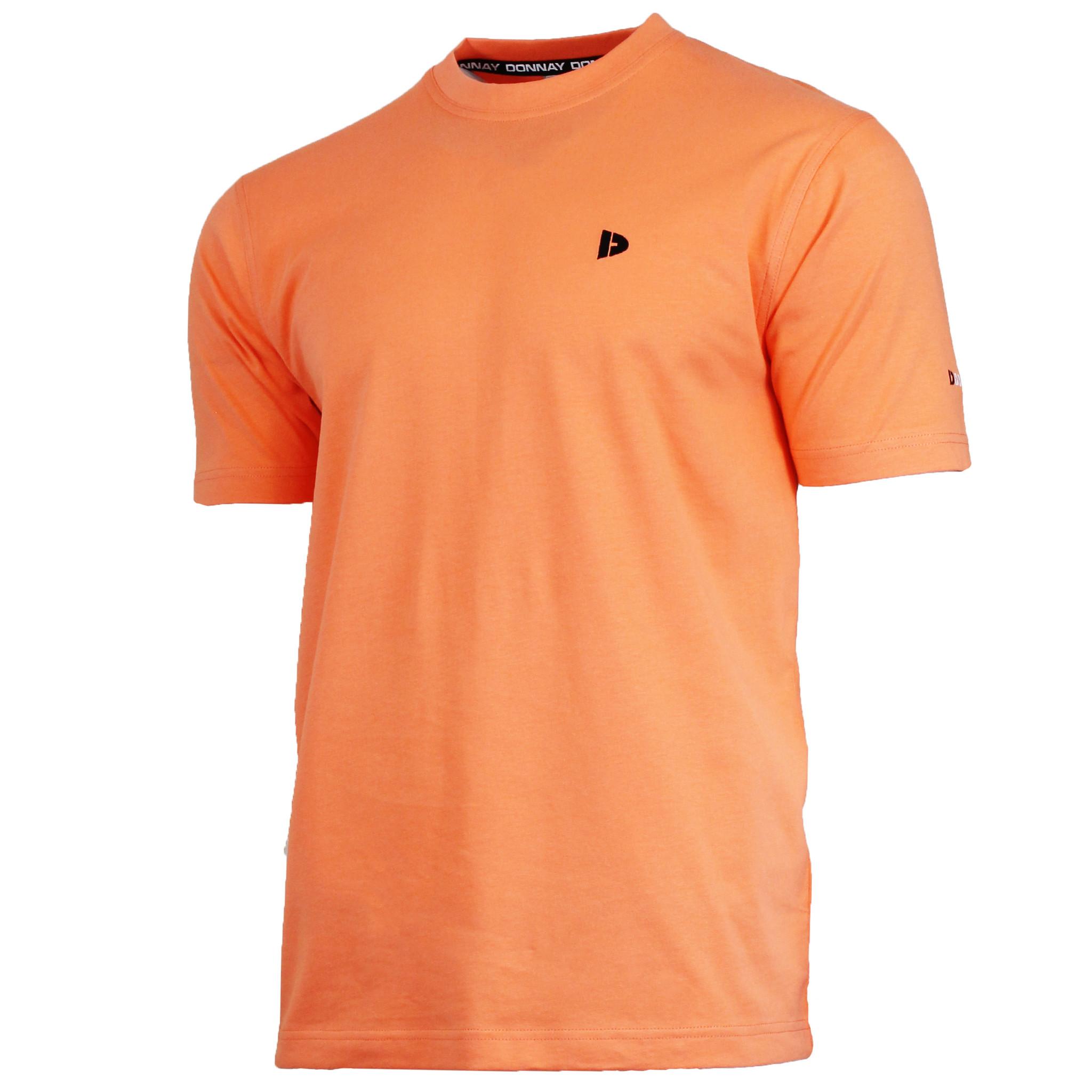 Donnay Donnay Heren - T-Shirt Vince - Meloen Oranje