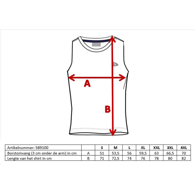 Donnay Heren - Mouwloos T-shirt Stan - Lichtgrijs gemêleerd