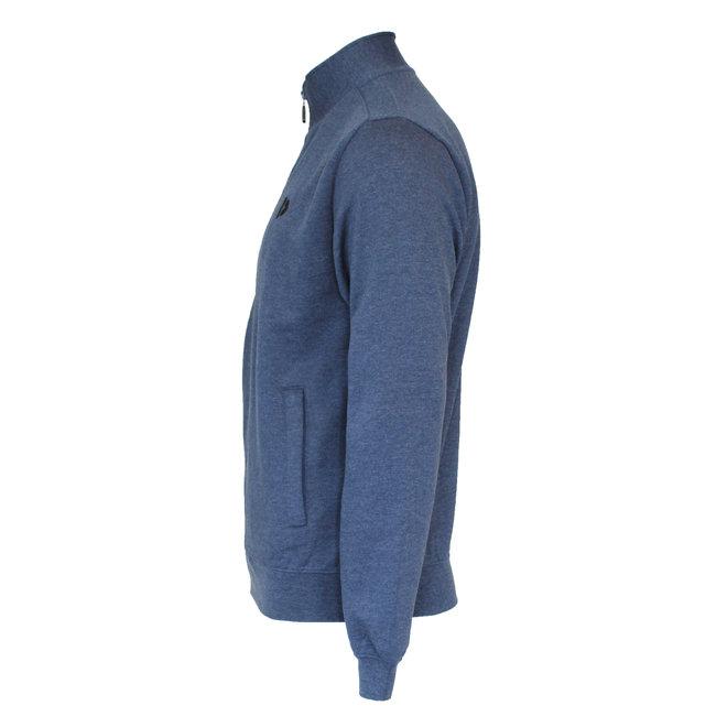 Donnay Heren - Vest met kraag Bryan - Donkerblauw gemêleerd