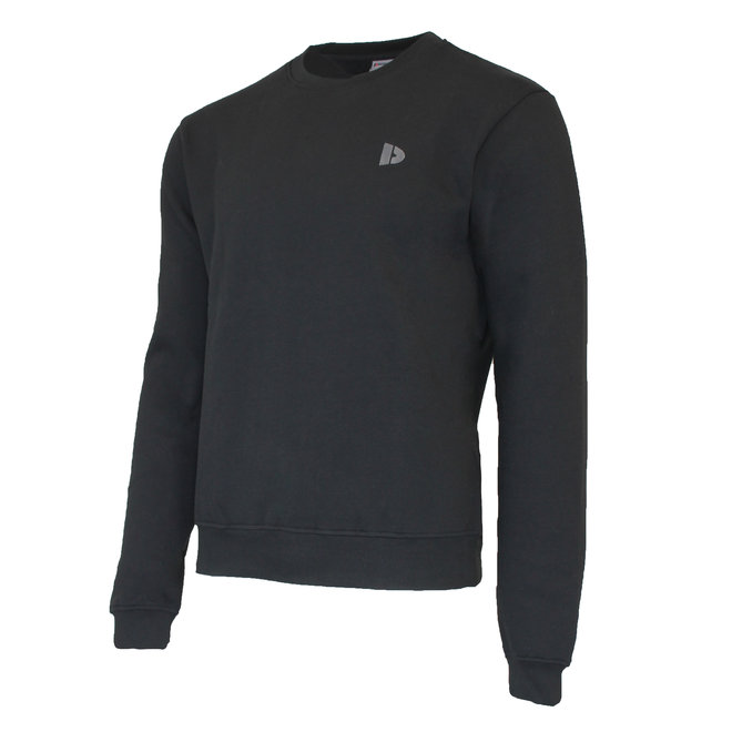 Donnay Heren - Fleece Crew Sweater Dean - Zwart