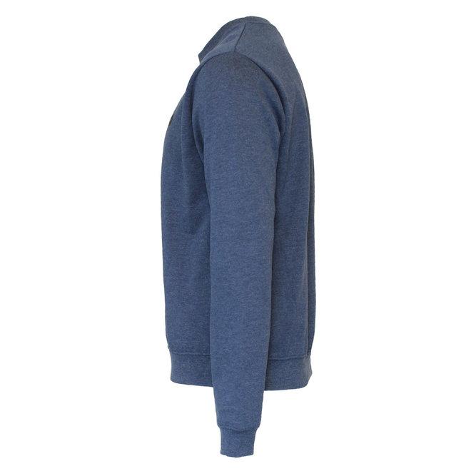 Donnay Heren - Fleece Crew Sweater Dean - Donkerblauw gemêleerd