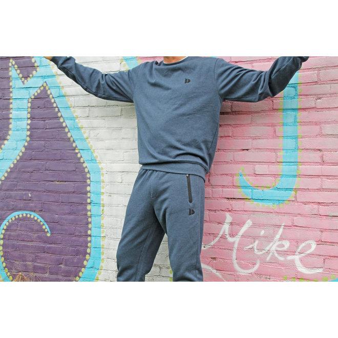 Donnay Heren - Joggingbroek Jack - Donkerblauw gemêleerd