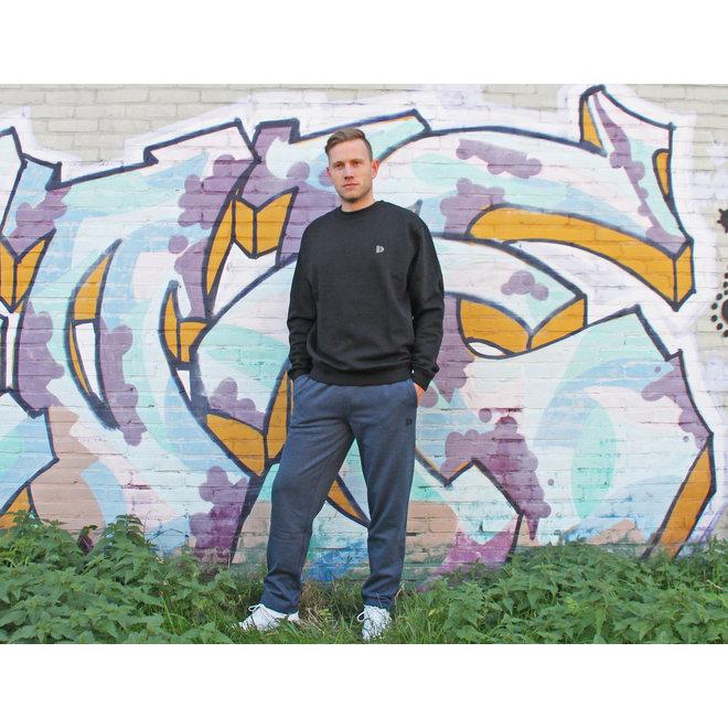 Donnay Heren - Joggingbroek rechte pijp Wess - Donkerblauw gemêleerd