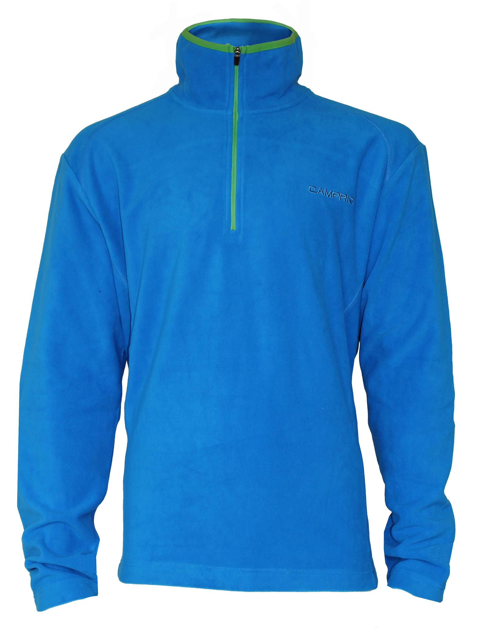 Campri Campri Heren - Micro Polar fleece sweater - Blauw