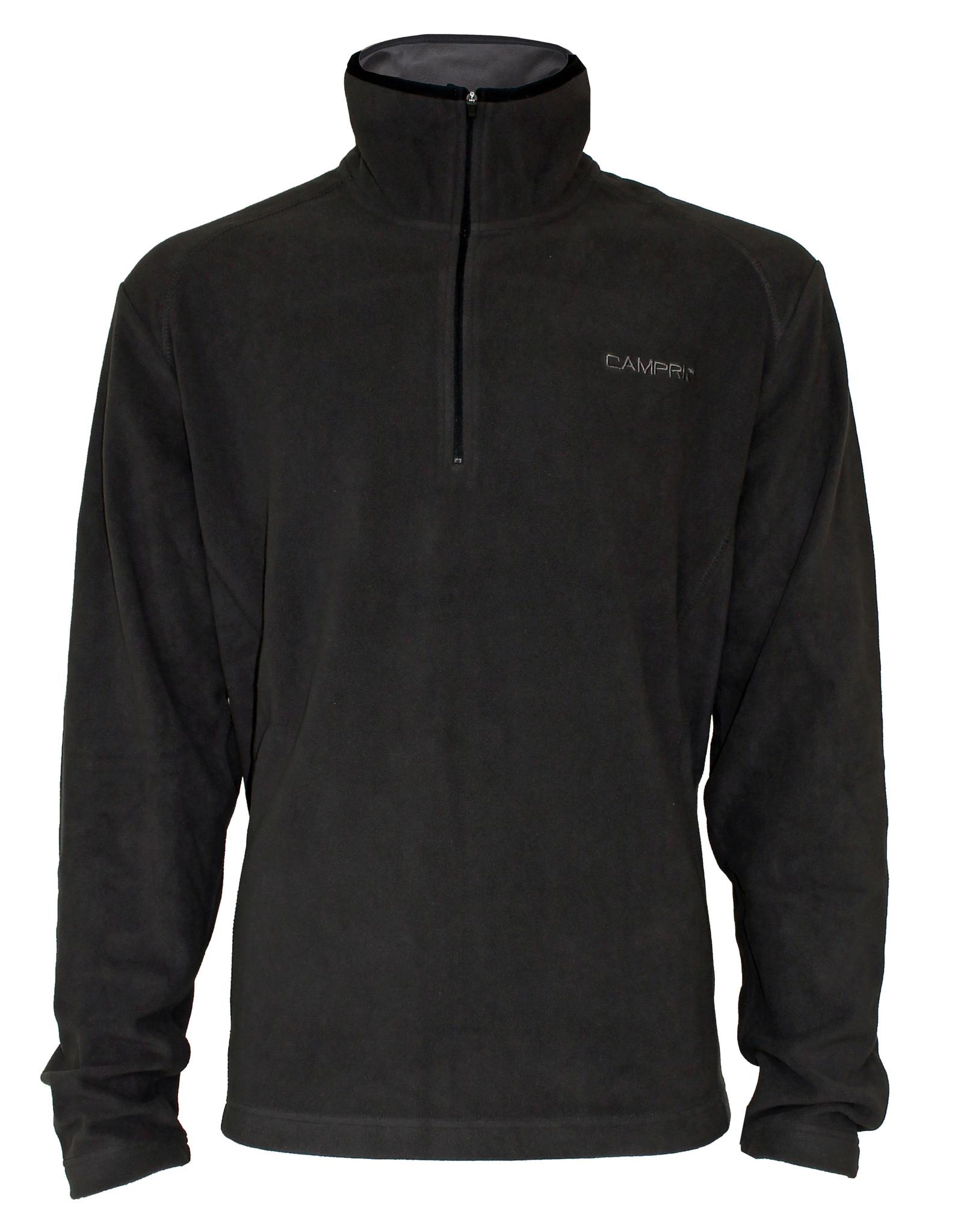 Campri Campri Heren -  Micro Polar fleece sweater - Bruin