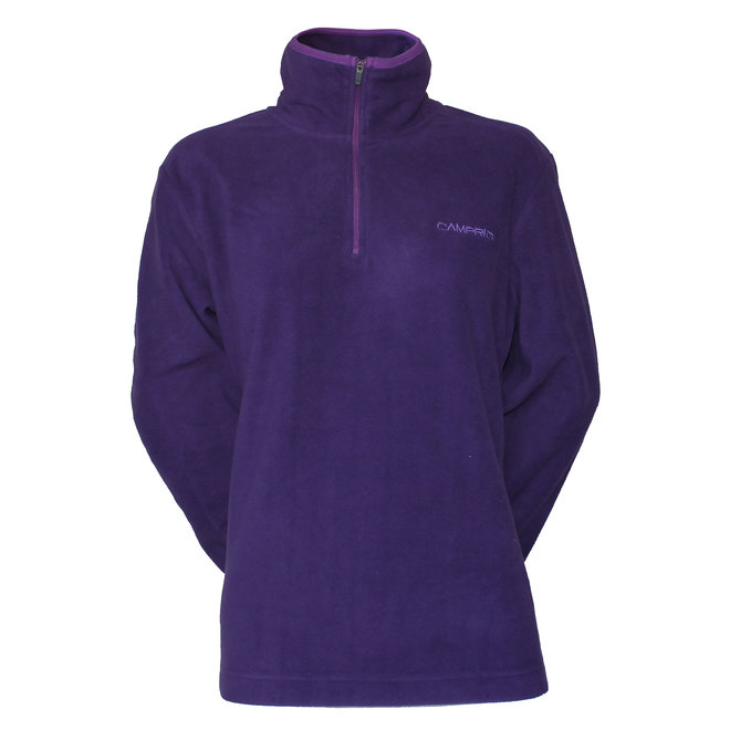 Campri Dames - Micro Polar fleece sweater - Donkerpaars