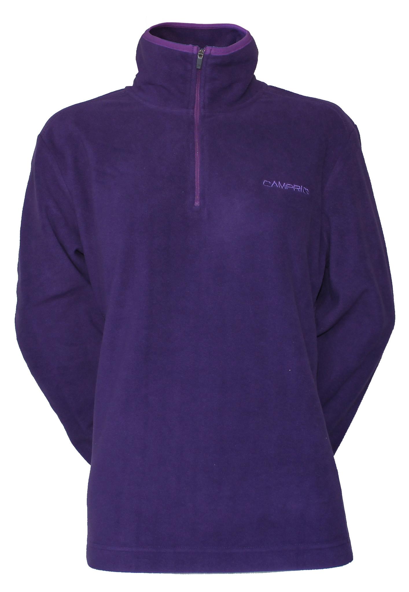 Campri Campri Dames - Micro Polar fleece sweater - Donkerpaars