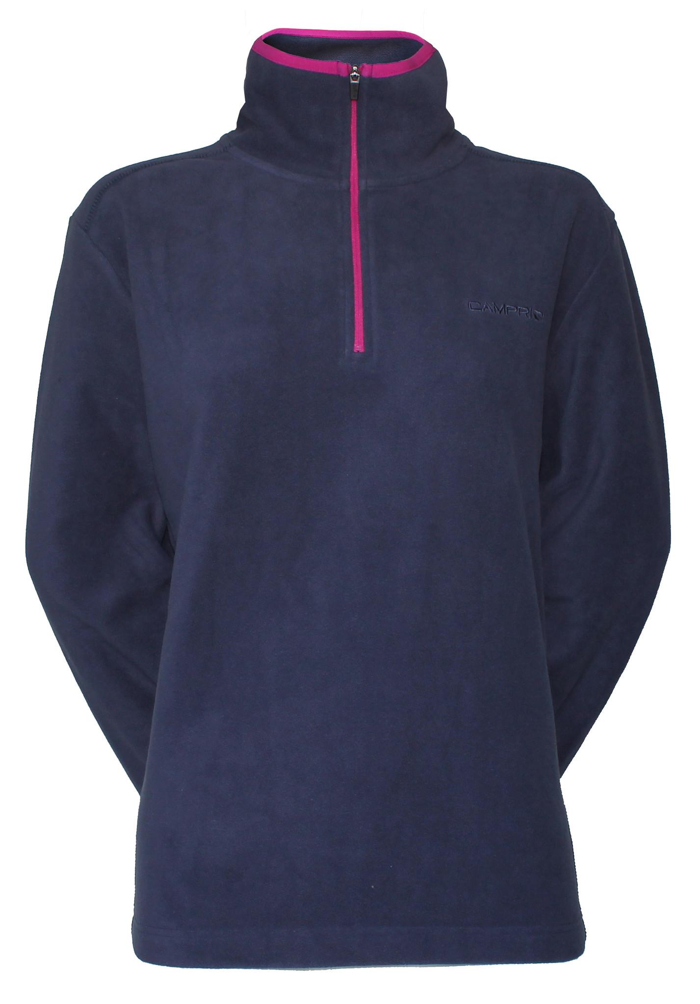 Campri Campri Dames Micro Polar fleece sweater - Blauw