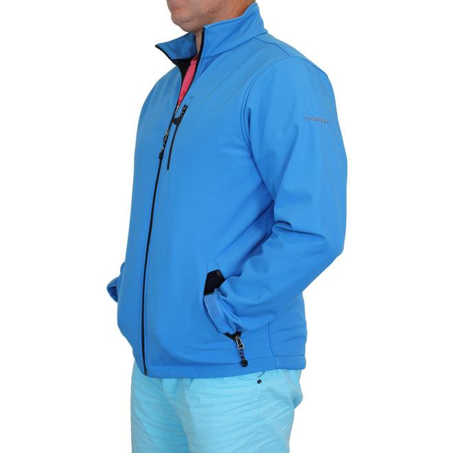 Campri Heren - Softshell Sportjas -  Blauw