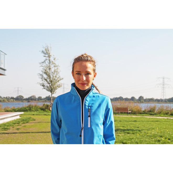Campri Dames - Softshell Sportjas - Blauw