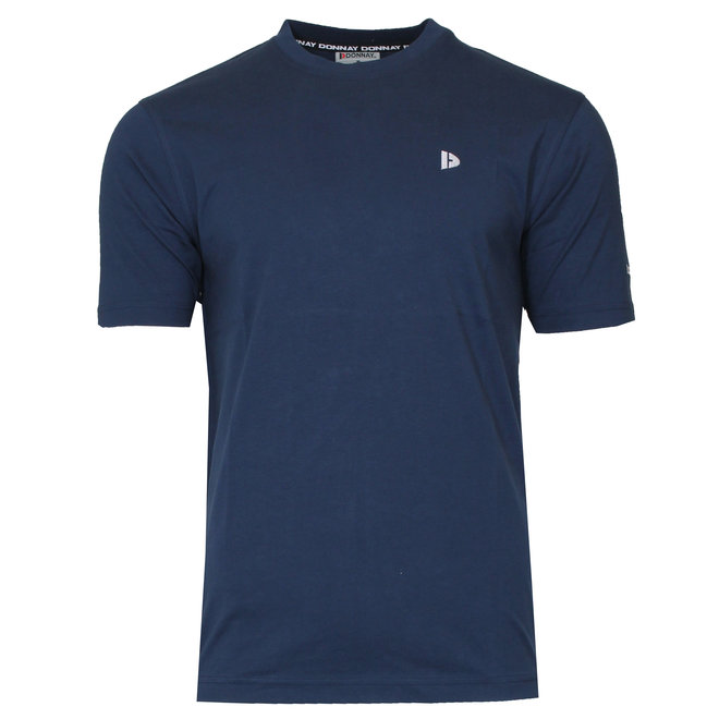 Donnay Heren - T-Shirt Vince - Donkerblauw