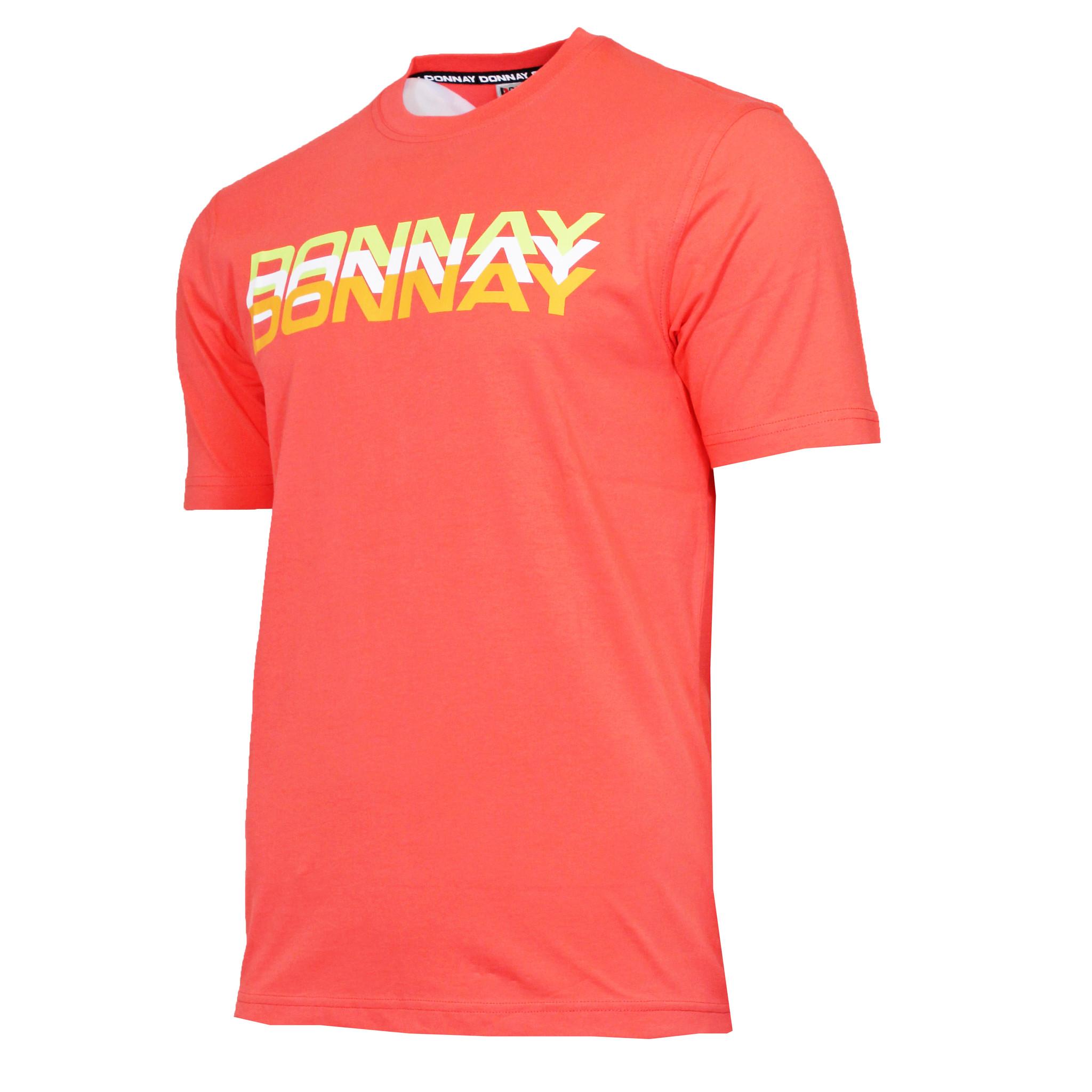 Donnay Donnay Heren - T-Shirt Daks - Perzik Oranje