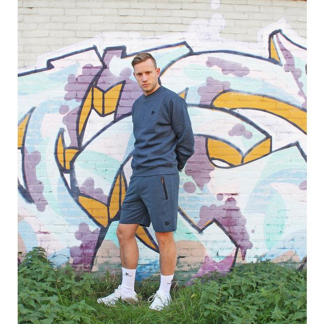Donnay Heren - Korte joggingbroek Nick - Donkerblauw gemêleerd