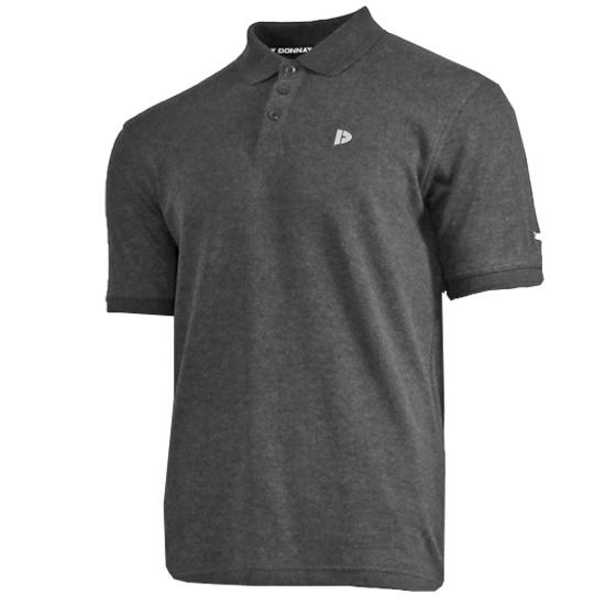 Donnay Donnay Heren - Polo shirt Noah - Donkergrijs gemêleerd