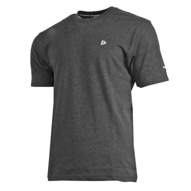 Donnay Heren - T-Shirt Vince - Donkergrijs gemêleerd