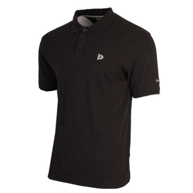 Donnay Heren - Polo pique shirt Noah - Zwart