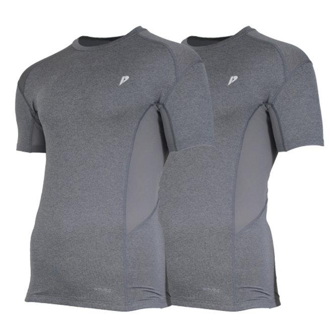 Donnay Heren - Ondershirt korte mouw - Grijs gemêleerd