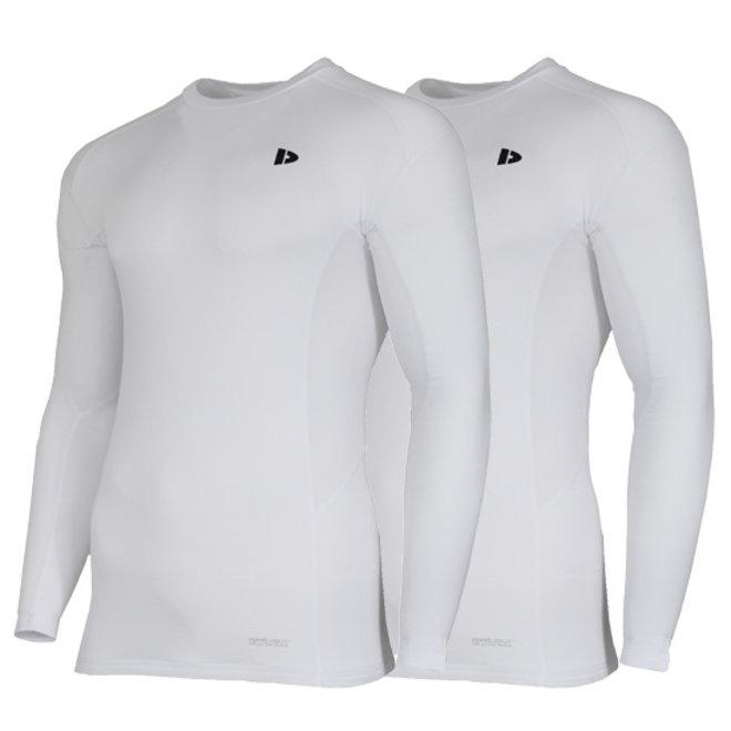 Donnay Heren - Compressie shirt lange mouw - Wit
