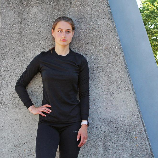 Campri Dames - Thermo shirt lange mouw - Zwart