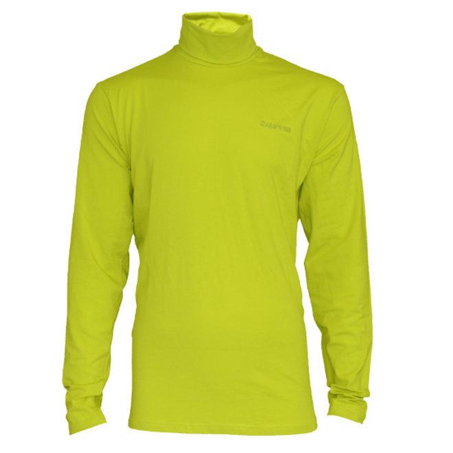 Campri Heren - Skipully - shirt met col - Lime Groen