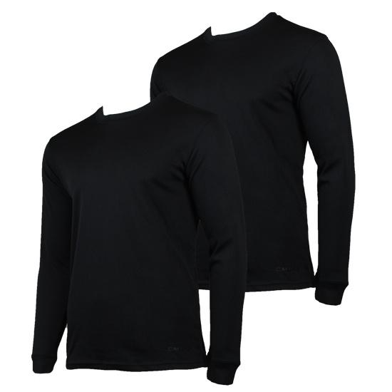 Campri Campri Heren - 2-Pack - Thermo shirt lange mouw - Zwart