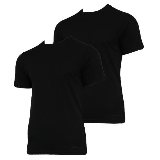 Campri Campri Heren - 2-Pack - Thermo shirt korte mouw - Zwart