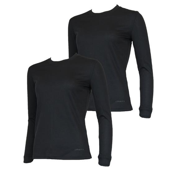 Campri Campri Dames - 2-Pack - Thermo shirt lange mouw - Zwart