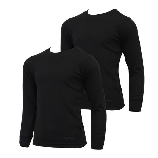 Campri Campri Junior - 2-Pack - Thermo shirt lange mouw - Zwart
