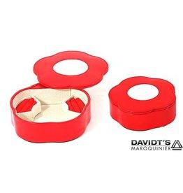 Davidts Boîte à Bijoux Des Fleurs Rouge