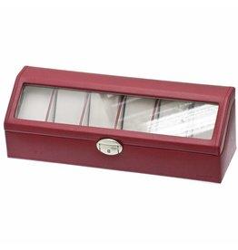 Davidts Uhrenbox für 6 Uhren Rot